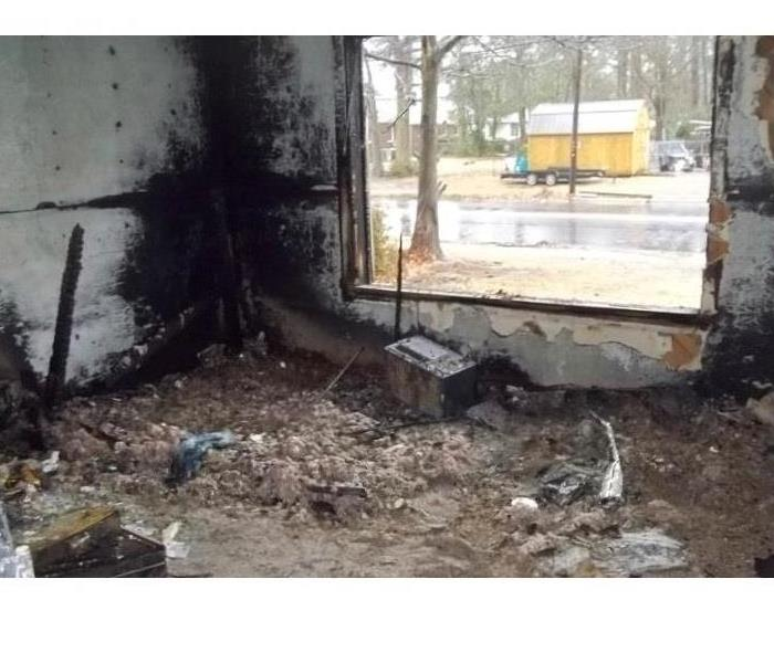 Fire Damage in Kinston, North Carolina Before